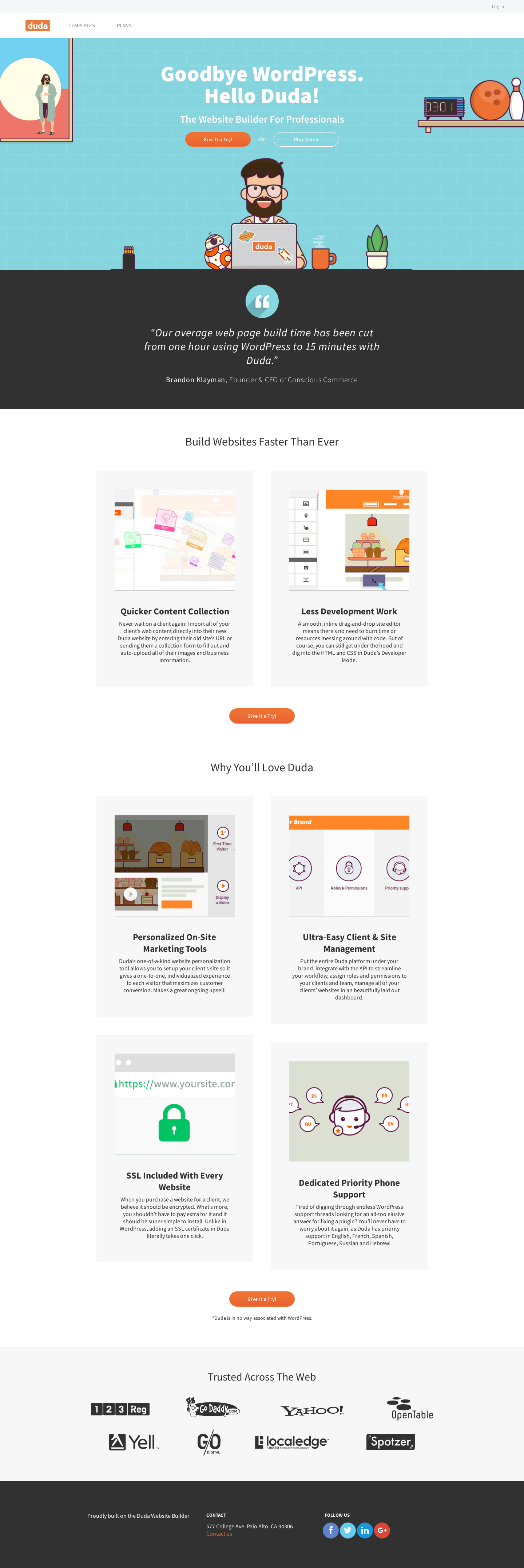 Landing Page Example Wp Duda Co This Or That Questions Landing Page Examples Blog