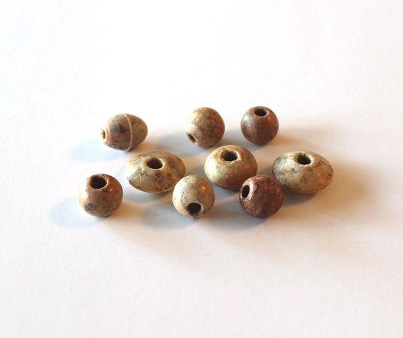Nine Soap Stone Beads Round Soapstone Beads Oval by TwentyLove, $4.60