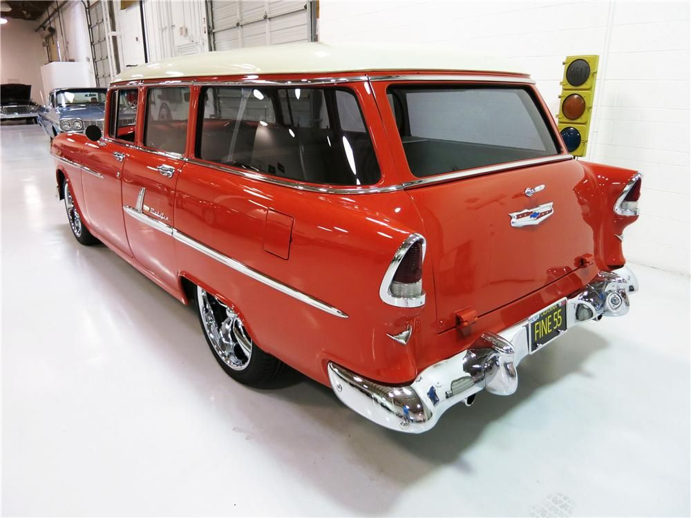 1955 Chevrolet Bel Air Custom 4 Door Station Wagon 55 Chevy 1955 Chevrolet Car Station