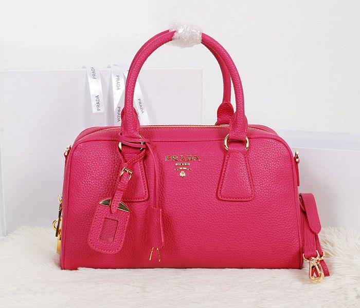 Prada Lichee Mini Crossboy Rose Red Bags