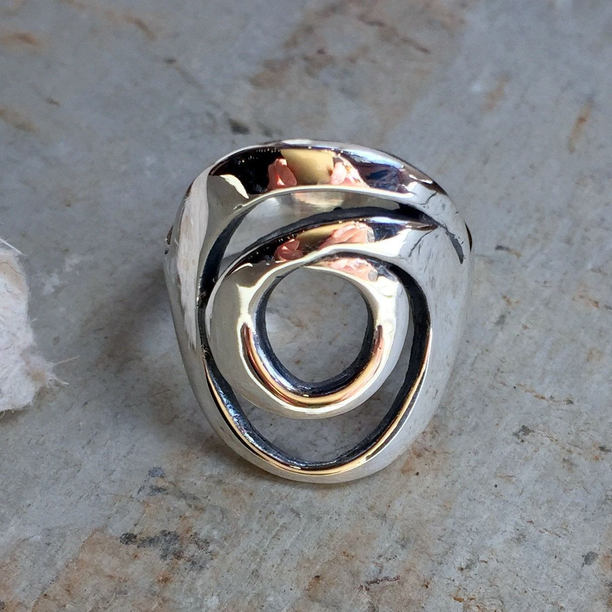 Sterling Silver Ring Hammered Silver Ring Wire by Ellishshop
