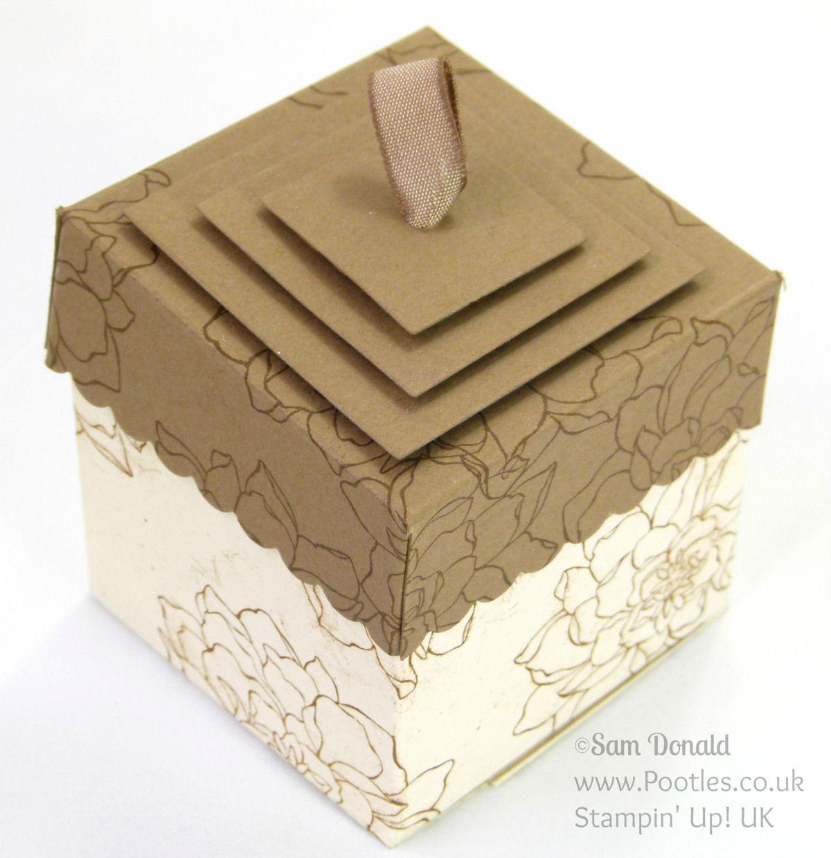 Lidded Box Tutorial using ©Stampin' Up! Squares Framelits
