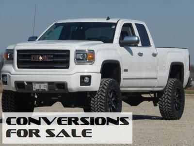 Lifted New White 2014 Gmc Sierra 1500 Double Cab Sle 4x4 Gmc