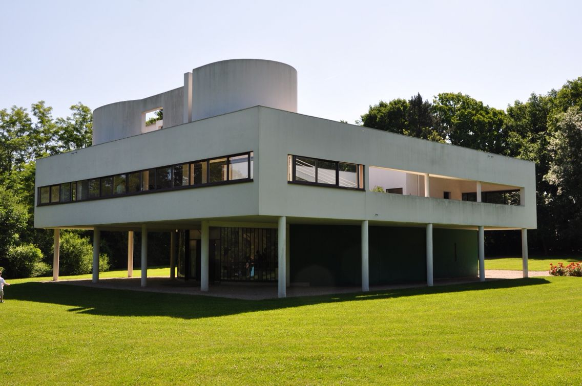 The Villa Savoye by Le Corbusier near Paris