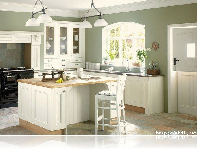 Good Wall Color For Kitchen With White Cabinets   Google Search