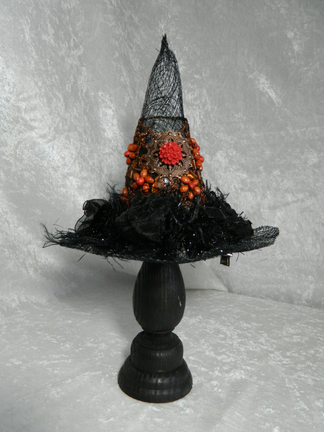 AUTUMN WITCH Mini Witch Hat fascinator, hair clip