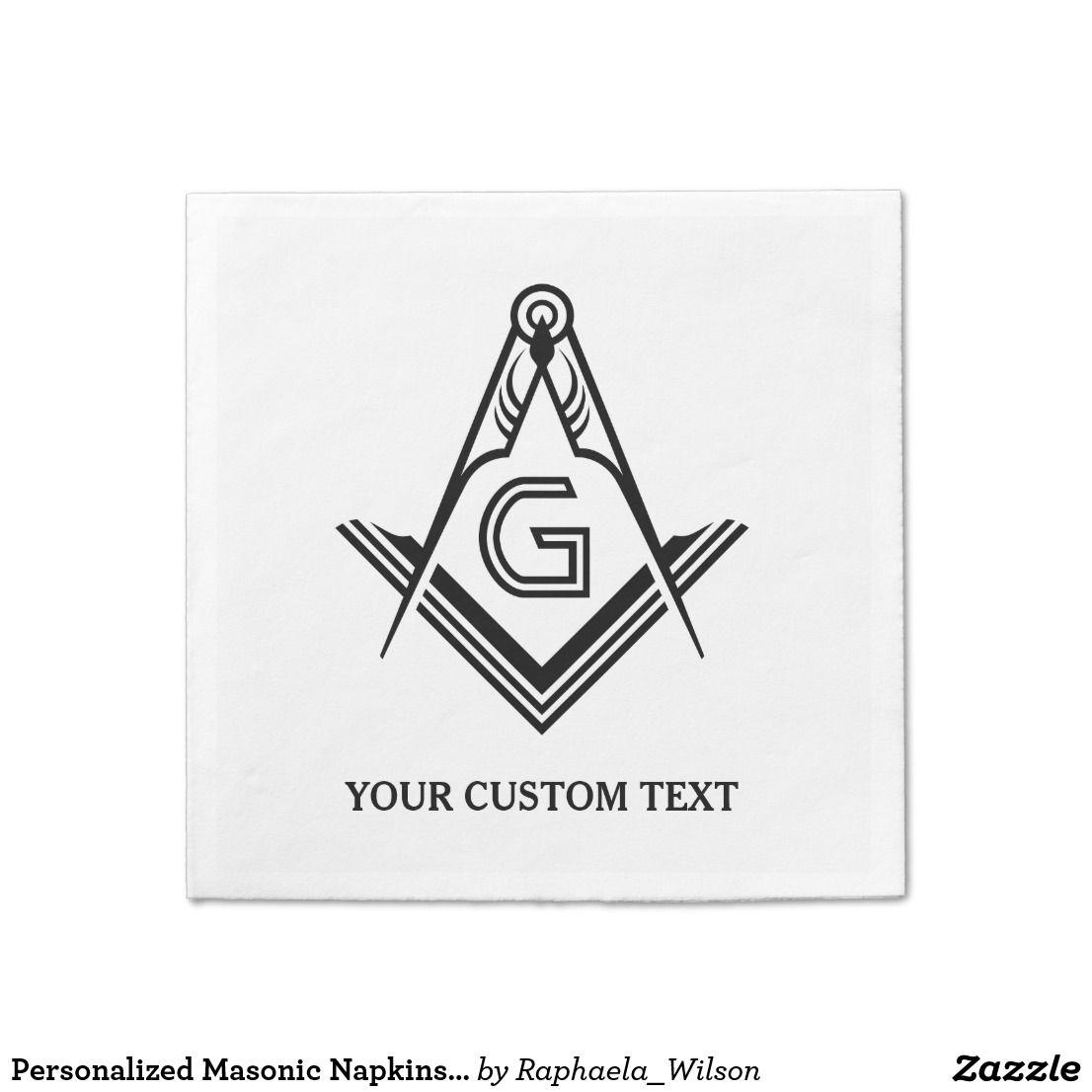 Personalized Masonic Napkins and Decorations | Custom Masonic Gifts ...