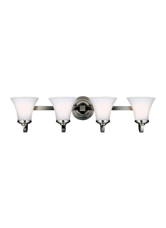 Photo of Feiss VS22504SN Satin Nickel Hamlet 4 Light Reversible Bathroom Vanity Light