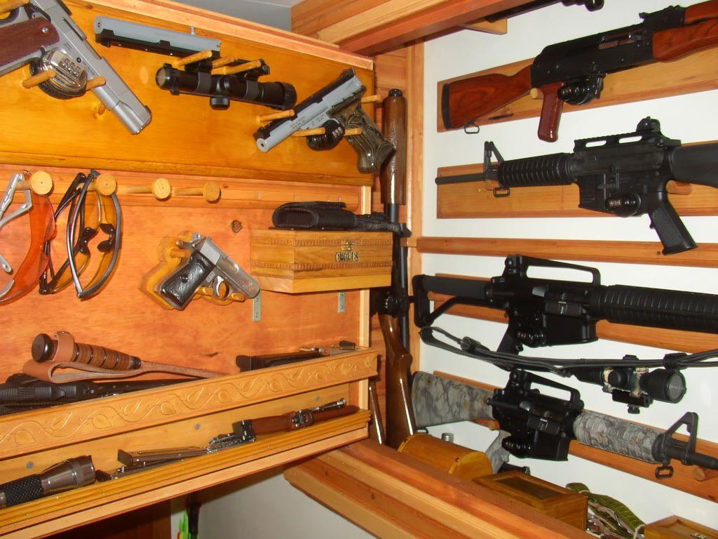 Homebuilt gun cabinet? - AR15.Com Archive   Milspec   Pinterest ...