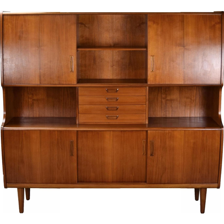 Large Vintage Mid Century Danish Modern Teak Cabinet Hutch Denmark  #rubylane #vintagefurniture