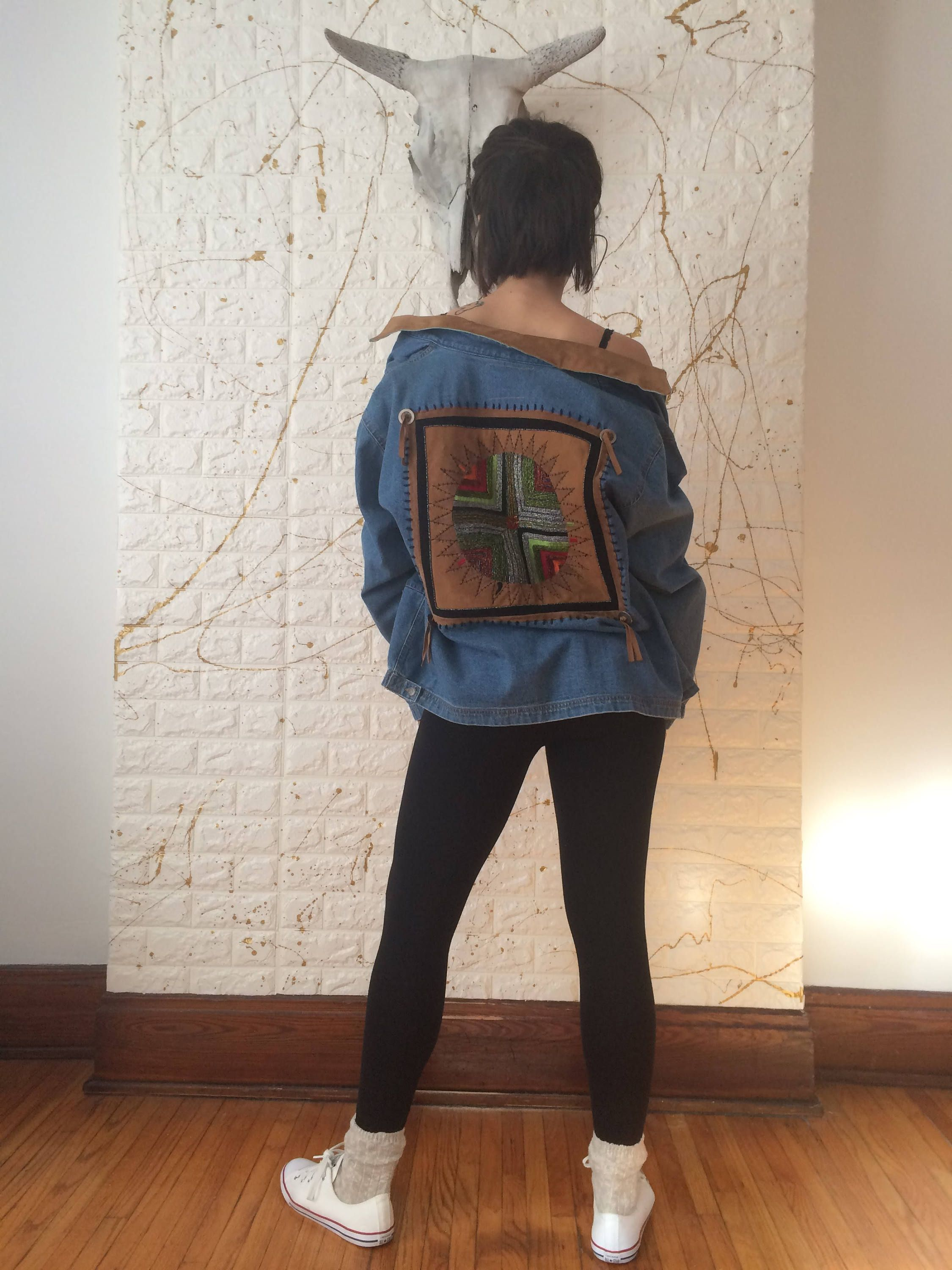 Vintage Chico S Native American Style Beaded Zip Up Denim Etsy Native American Fashion Vintage Jacket Native American [ 3000 x 2250 Pixel ]