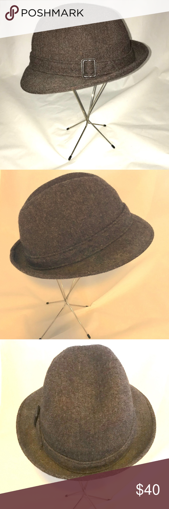 6258b12ced6fa Pendleton Hat Fedora Brown 100% Virgin Wool Hat Fedora Dark Brown by Pendleton  Vintage 100