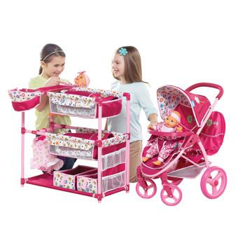 Malibu Doll Stroller & Activity Center Playset   Doll play ...