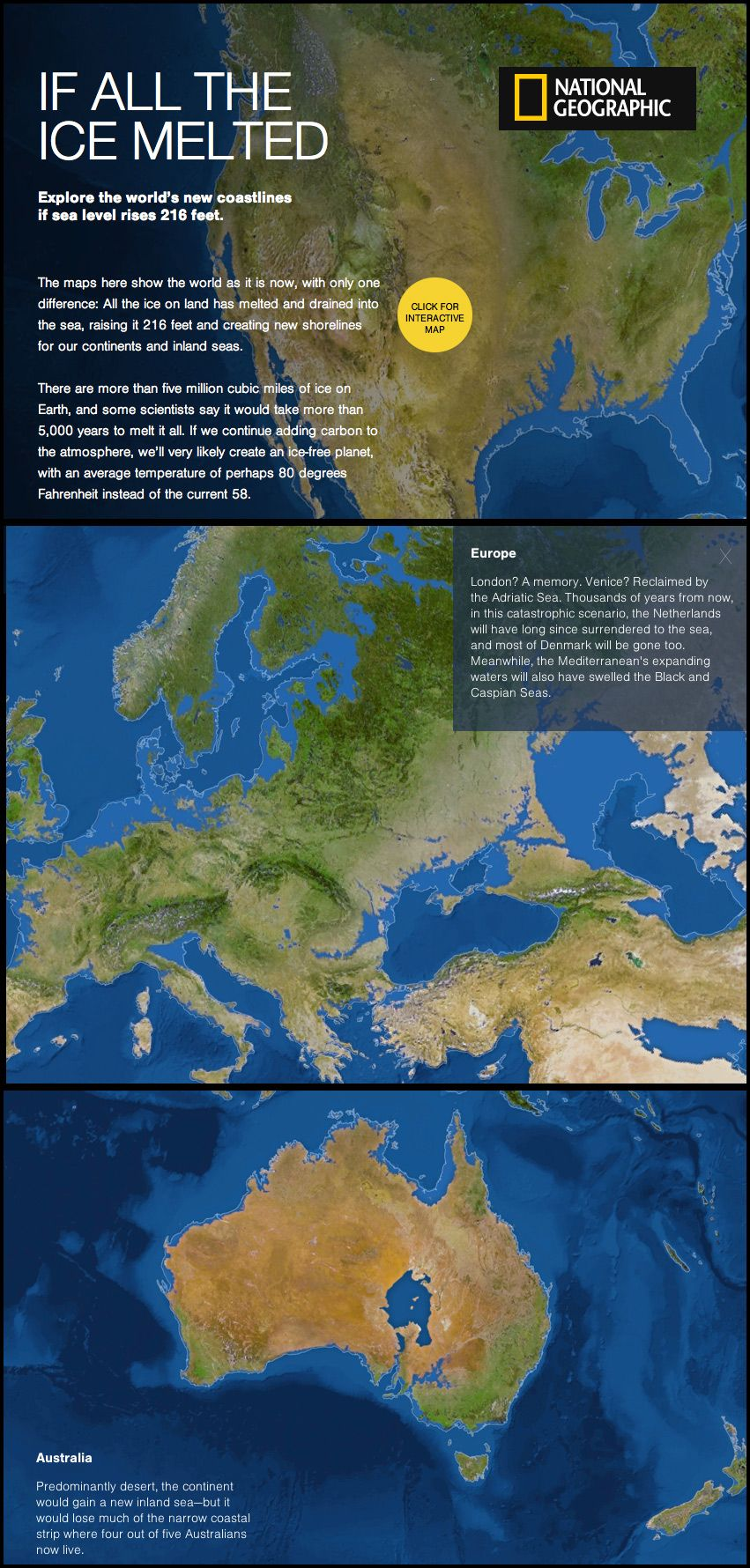 What The World Would Look Like If All The Ice Melted Climate - Map reveals what the earth would look like if all the polar ice melted 2