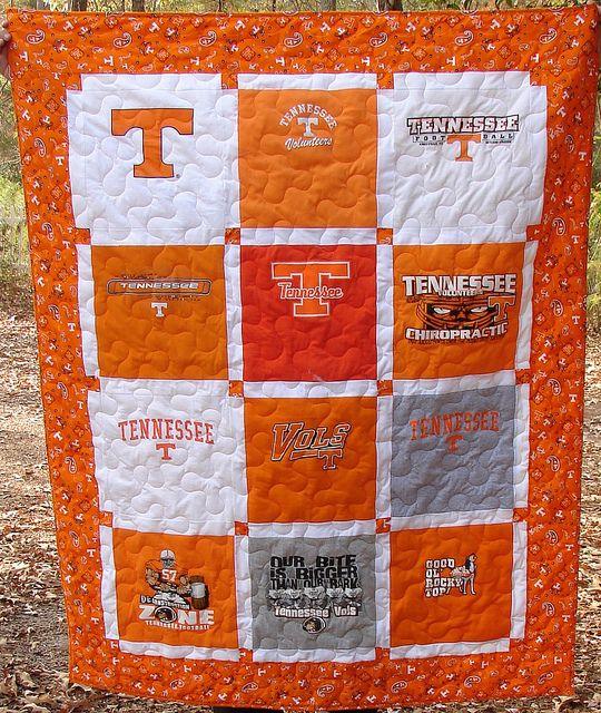 University Of Tennessee T Shirt Quilt Shirt Quilt