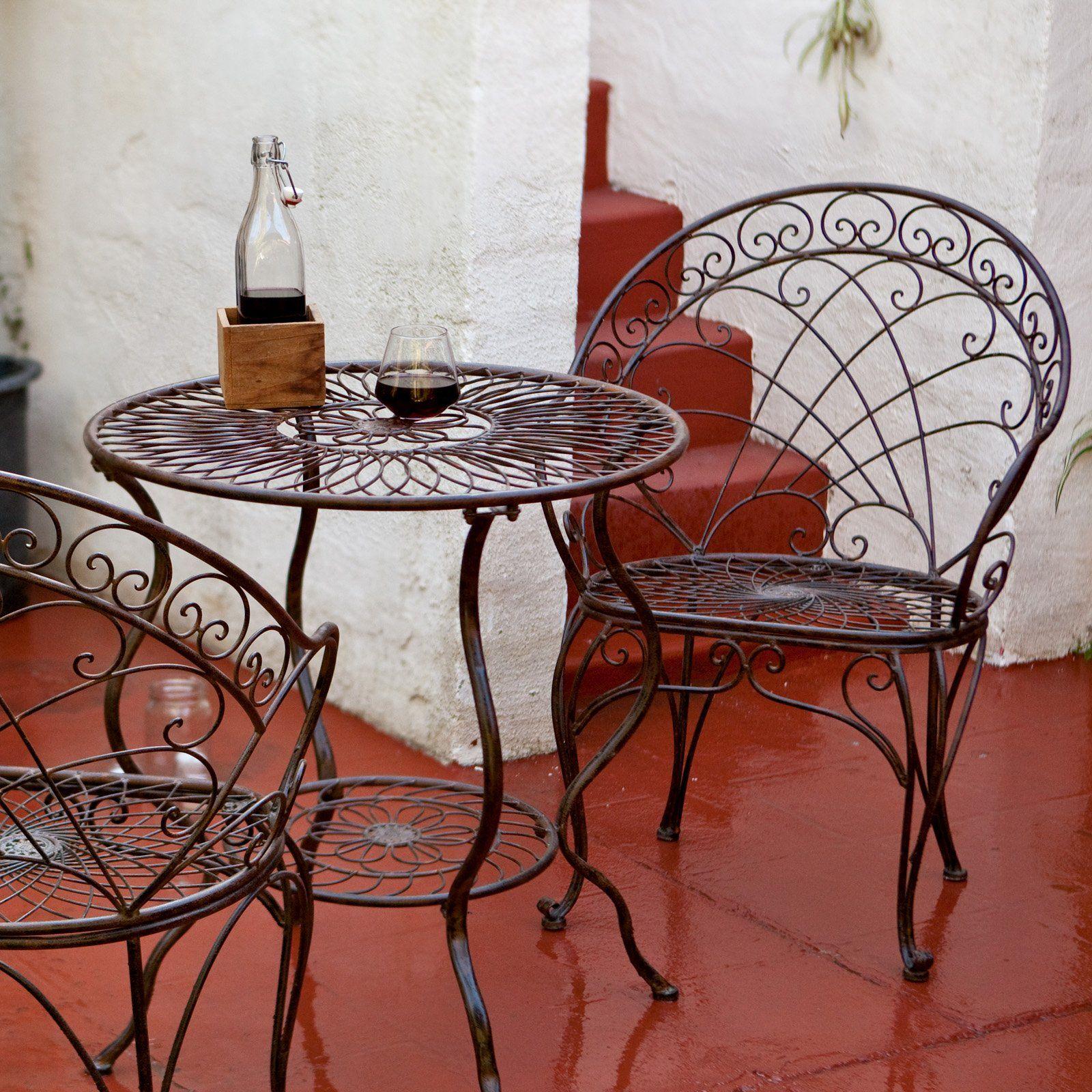 Lille antiqued iron bistro set muebles pinterest for Cosas de casa muebles