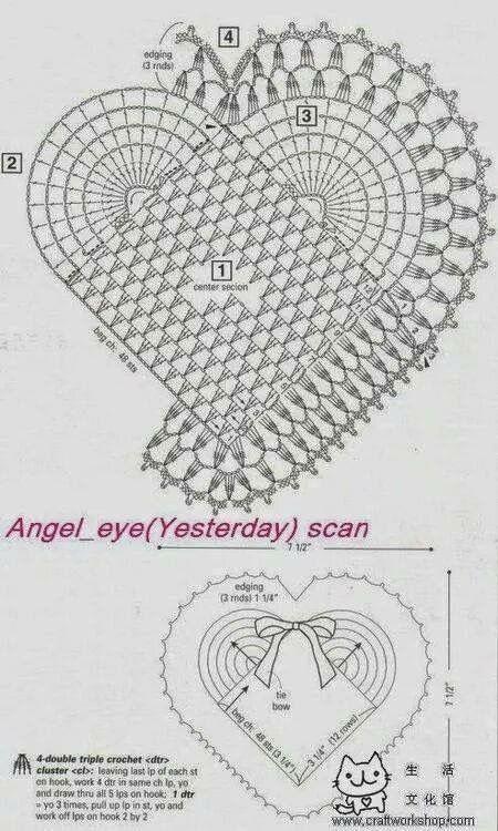 Corazón crochet 2 | Tejer | Pinterest | Corazon crochet