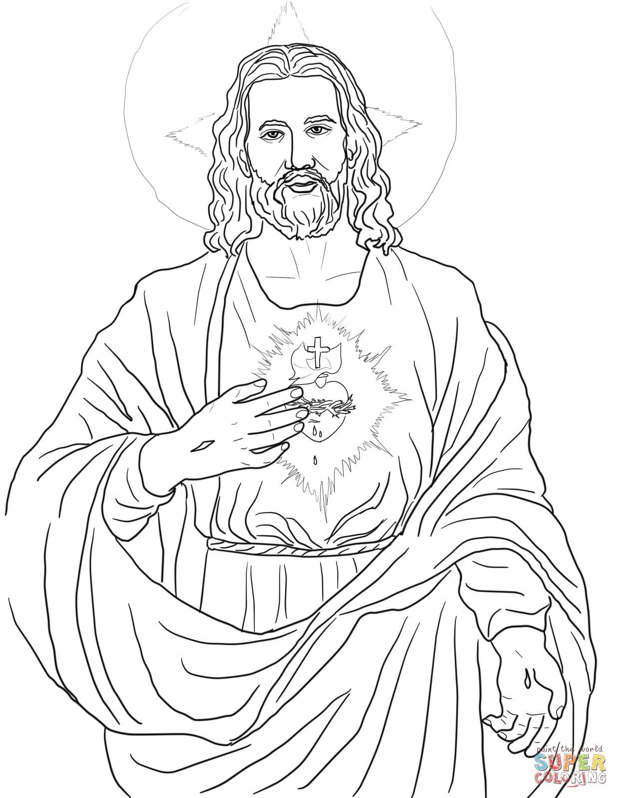 Sacred Coloring Page Bing Images Com Imagens Desenho Jesus