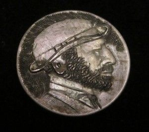Hobo carved nickel art