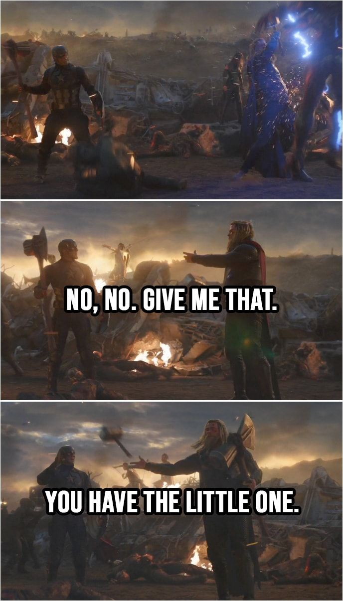 Give Me That You Have The Little One Avengers En Zitate