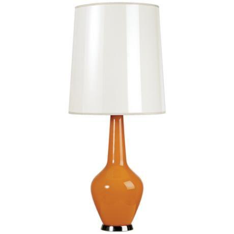Jonathan Adler Capri Tall Orange Glass Table Lamp J1772 Lamps Plus Glass Table Lamp Table Lamp Lamp