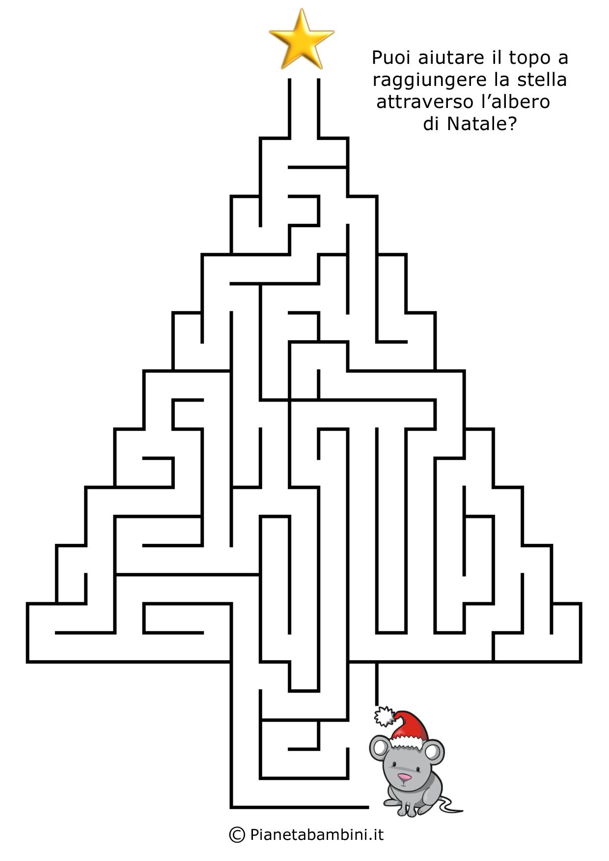 Labirinti Per Bambini Dedicati Al Natale Da Stampare Labirinti
