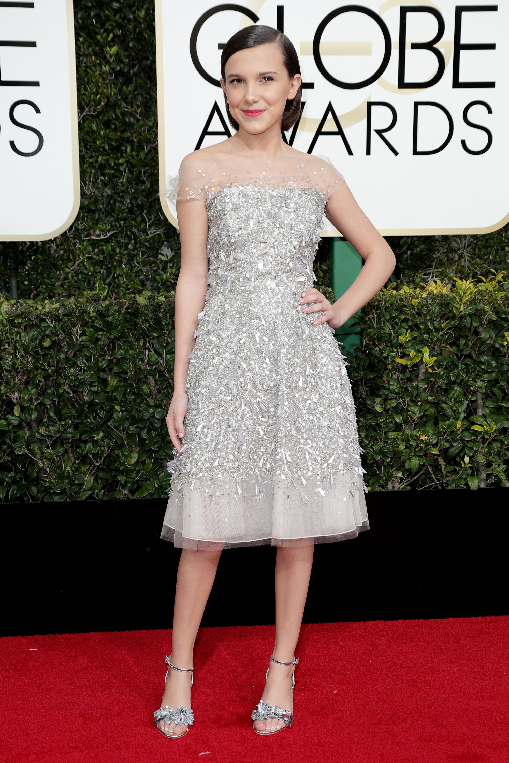 This Year's Golden Globes Red Carpet Was Too Good | Red carpet dresses, Bobby  brown, Millie bobby brown