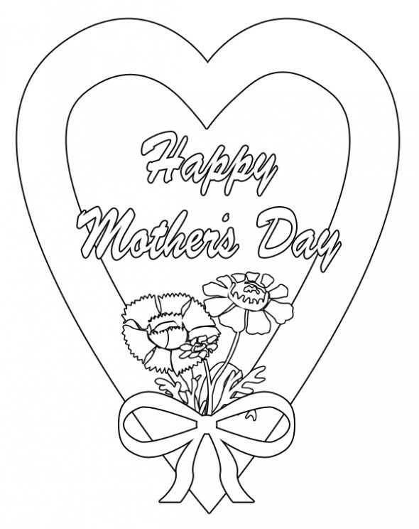 Happy Mother S Day Clip Art Images Craft Ideas Mothers Day Coloring Pages Birthday Coloring Pages Mom Coloring Pages