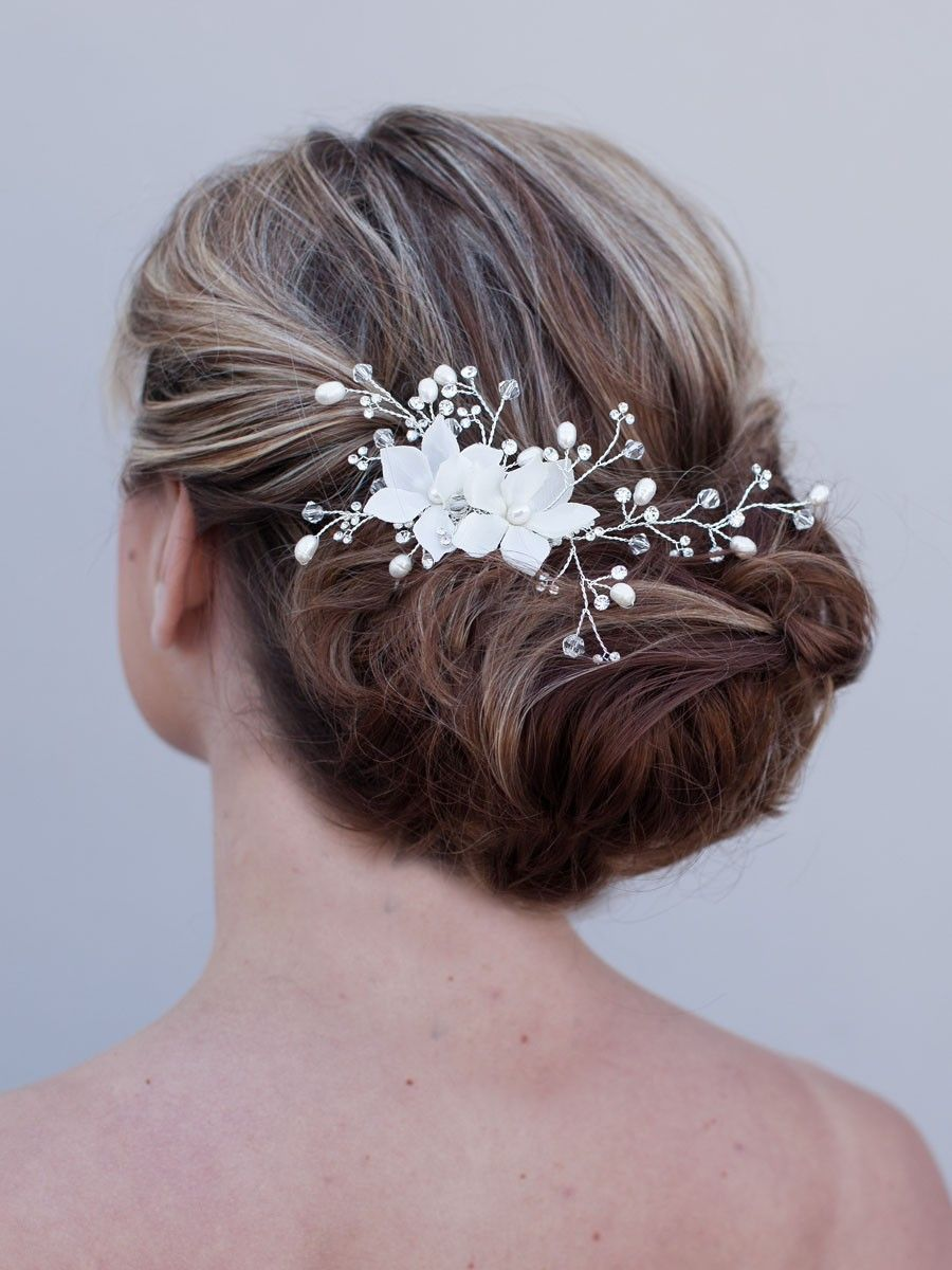 Hair Comes the Bride - Bridal Hair Flower Comb ~ Radiance, $98.00 (http://www.haircomesthebride.com/bridal-hair-flower-comb-radiance/)