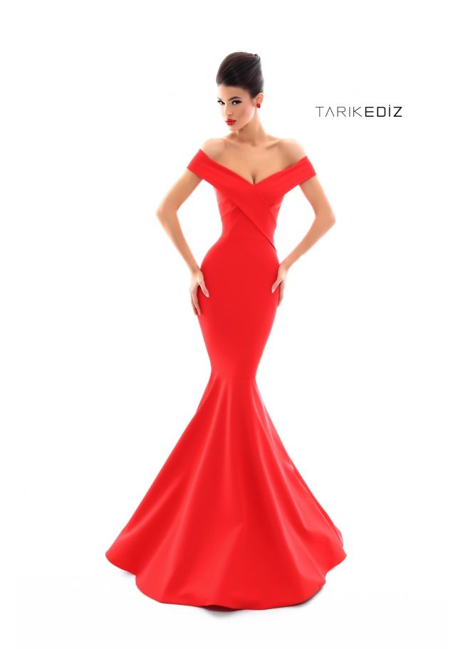 4b487a492e76 ... Collection Style  50286 Red Off-Shoulder Mermaid-Cut Prom Gown. Also  available in Black