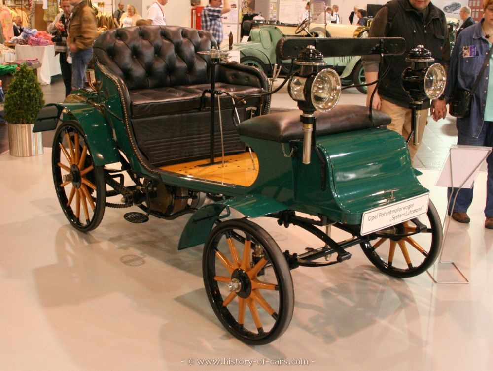 1899 – Opel manufactures its first automobile. | opel 1899 patent ...