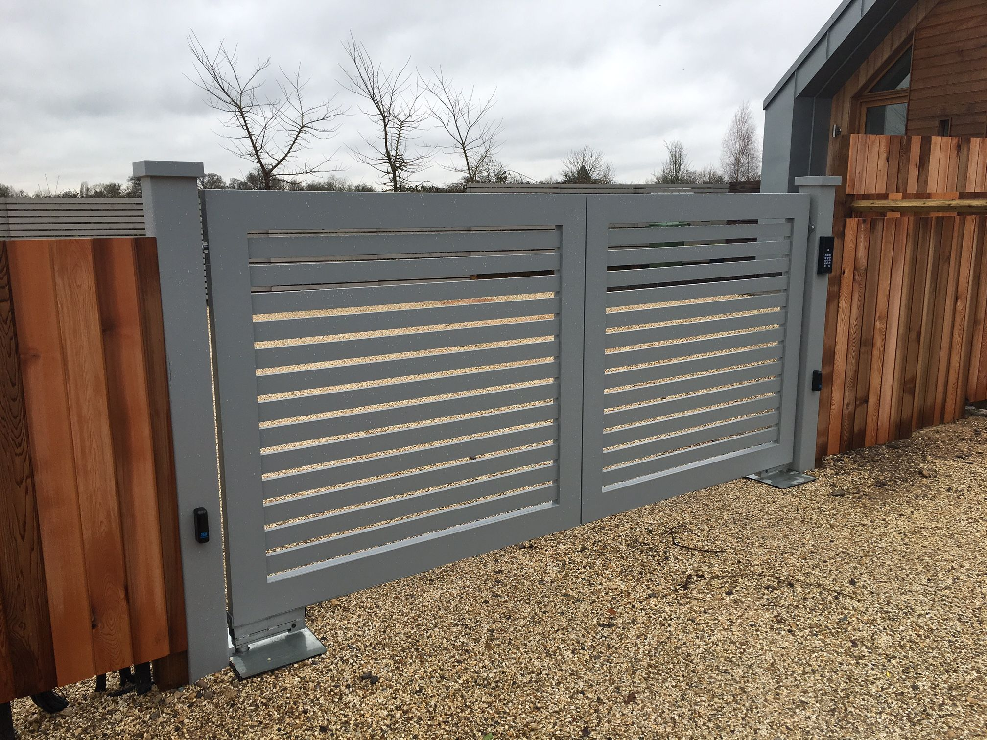 Custom Hand Crafted Aluminium Swing Gates, Underground Automation With A