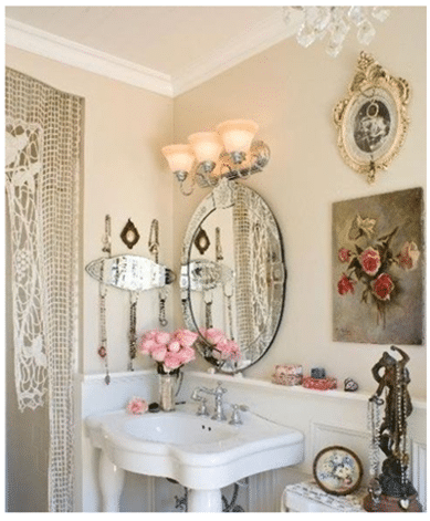 Shabby chic does not mean shabby, for the bathroom it involves elements of ...