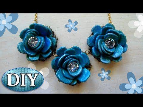 alta moda Scarpe 2018 sono diversamente Tutorial: Collana con Fiori blu Fai Da Te   DIY Necklace with blue ...