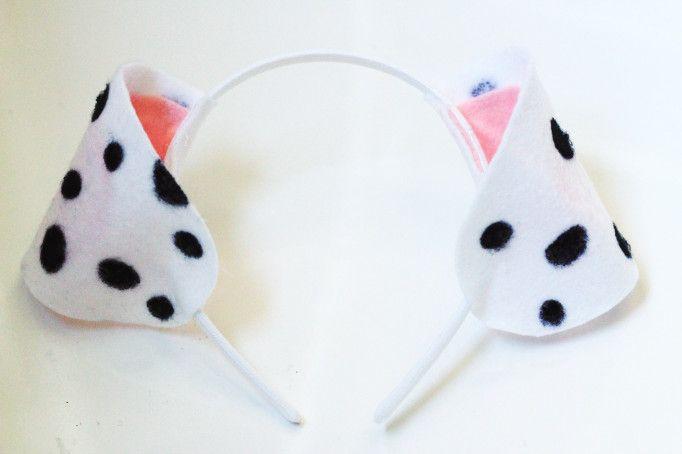 Diy Felt Dalmatian Ears Free Template Zoes 6th Pinterest