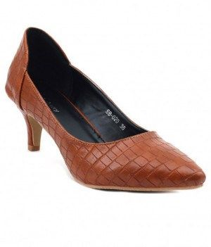 4dcffd1b6bb Heels - Shuberry tan kitten heels online shopping India