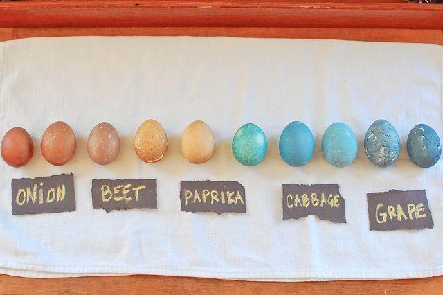 uova multicolor (usando le cose che ho in cucina)