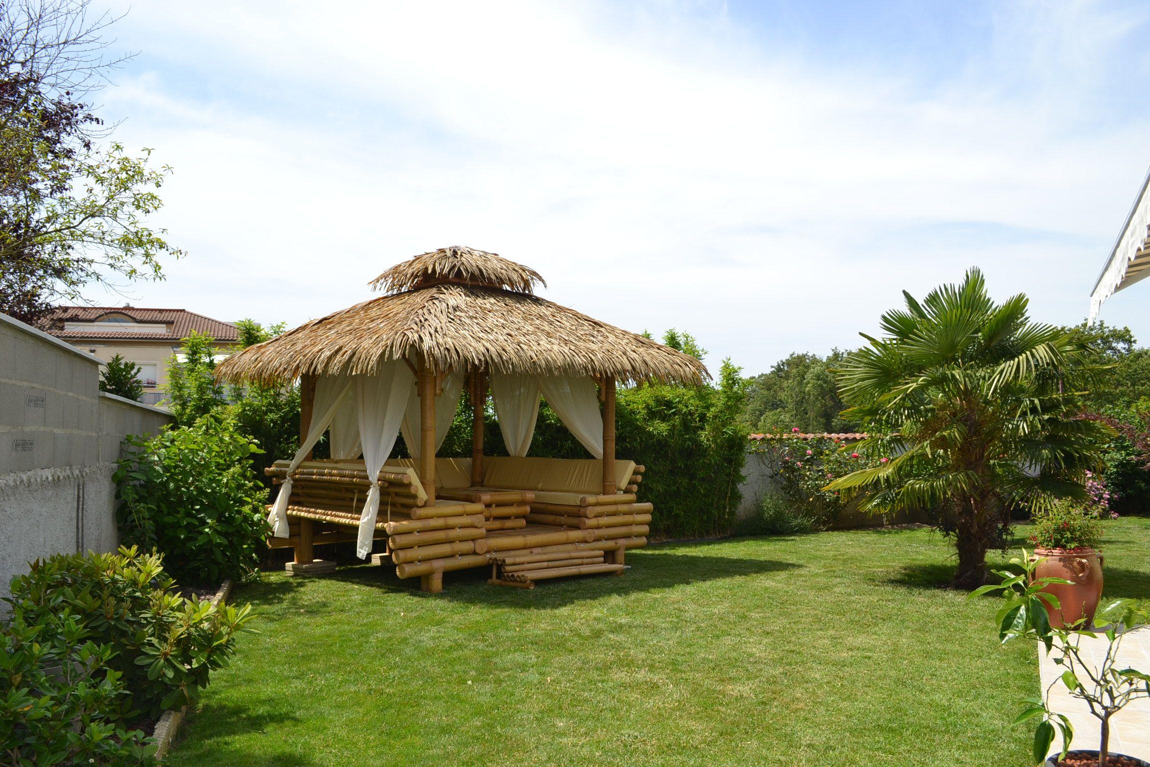 Gazebo Bambou Ou Paillote Bambou Salon De Jardin Pergola En