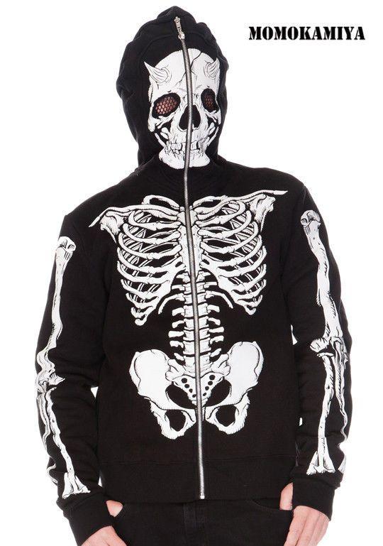 f1750815c9f JAWBREAKER Demon Skeleton LIVING DEAD SOULS Full-Face Hood HOODY ...