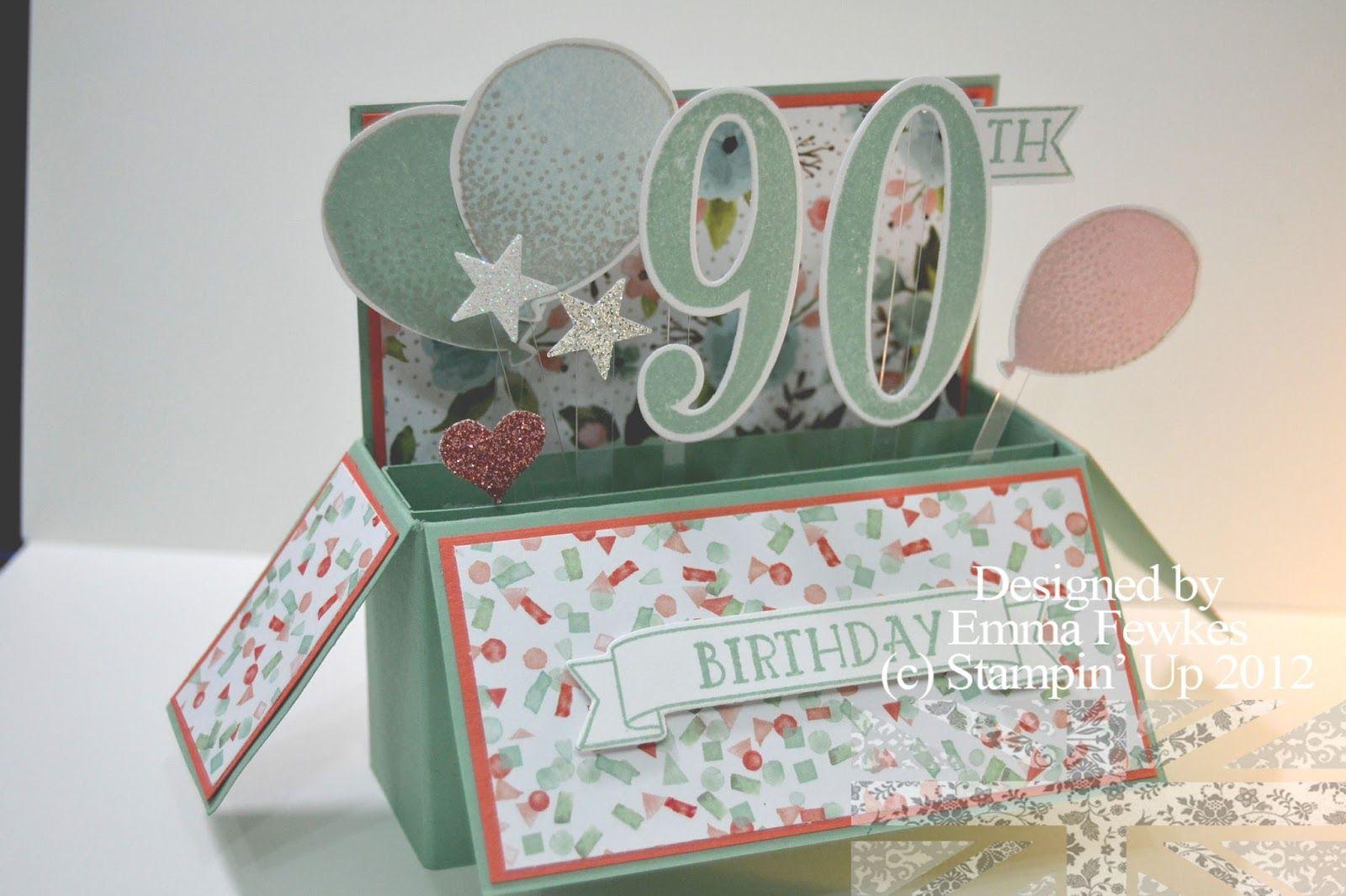 90th 70th Birthday Boxes Birthday Card Pop Up 70th Birthday Card 90th Birthday Cards