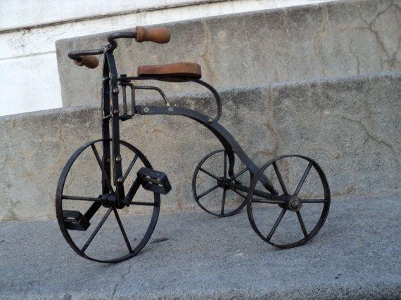 Vintage Tricycle Tricycle Retro Bicycle Big Wall Art