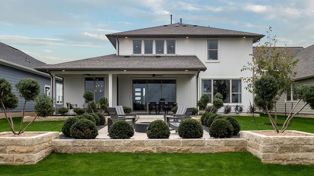 Amaretto Rear Backyard inspo, House styles, Austin homes