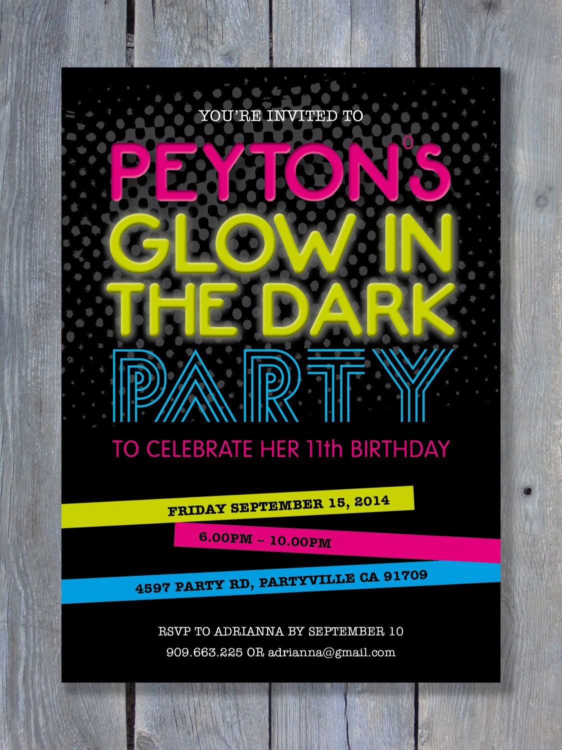awesome Best Glow in the Dark Party Invitations | Invitations by www ...