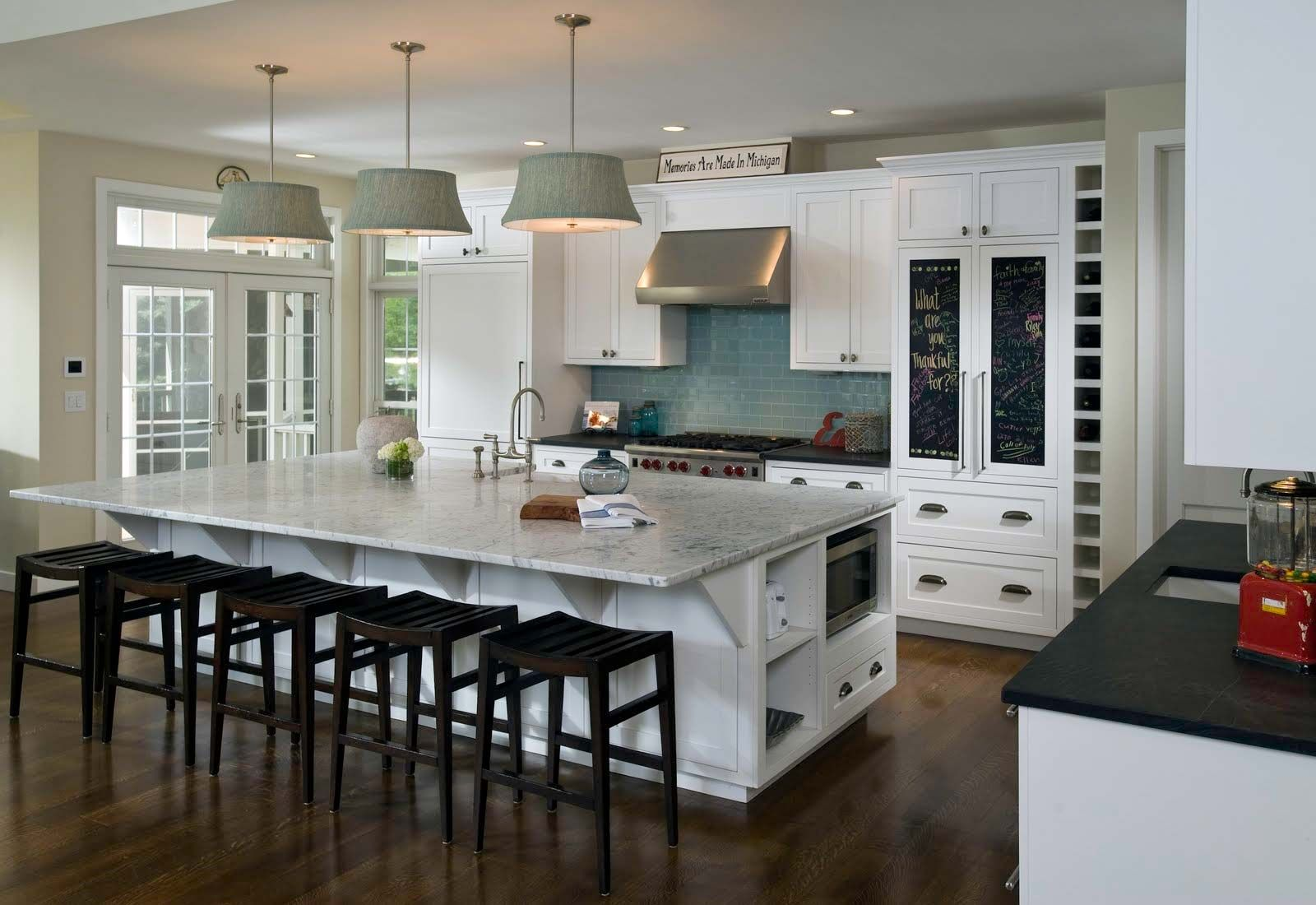 White Kitchen Dining Room Open Space Design Living Ice Twowox