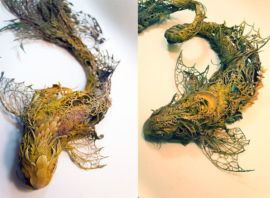 Surreal Fantasy Creatures Clay Sculpture By Artist Ellen Jewett - Surreal animal plant sculptures ellen jewett