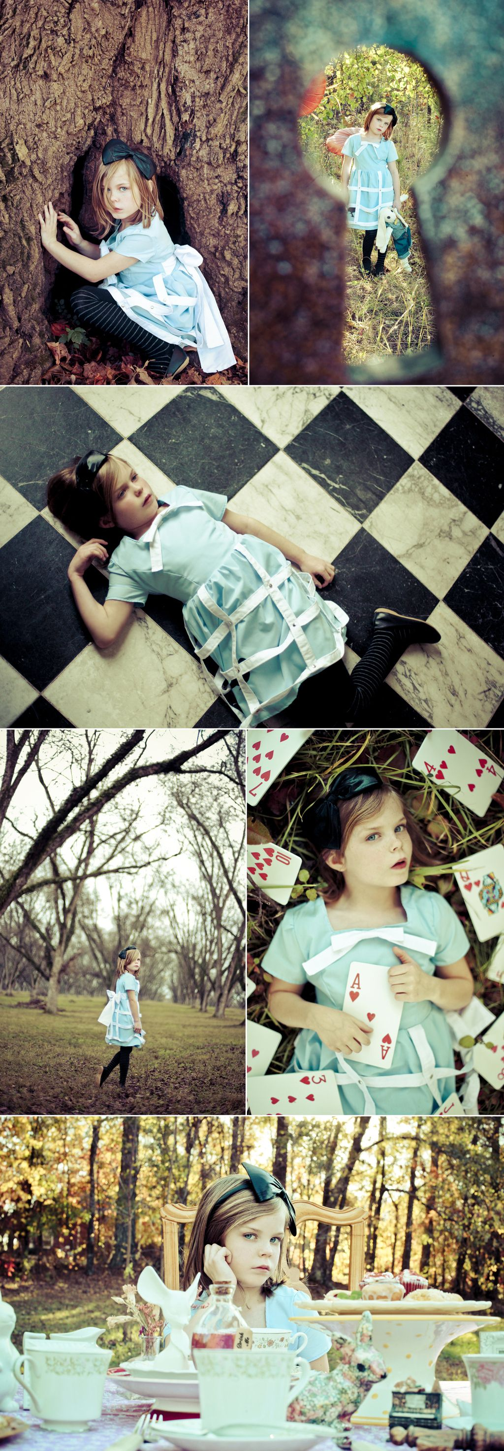 This nine year old little girl is Alice. She was adopted by a photographer family when she was seven years old. Once her mom discovered that Alice had an incredible imagination and an uncanny ability to pose in front of the camera she started planning photo shoots for them to do together. Here's a collection of some of their favorite cosplays featuring some of their favorite characters.