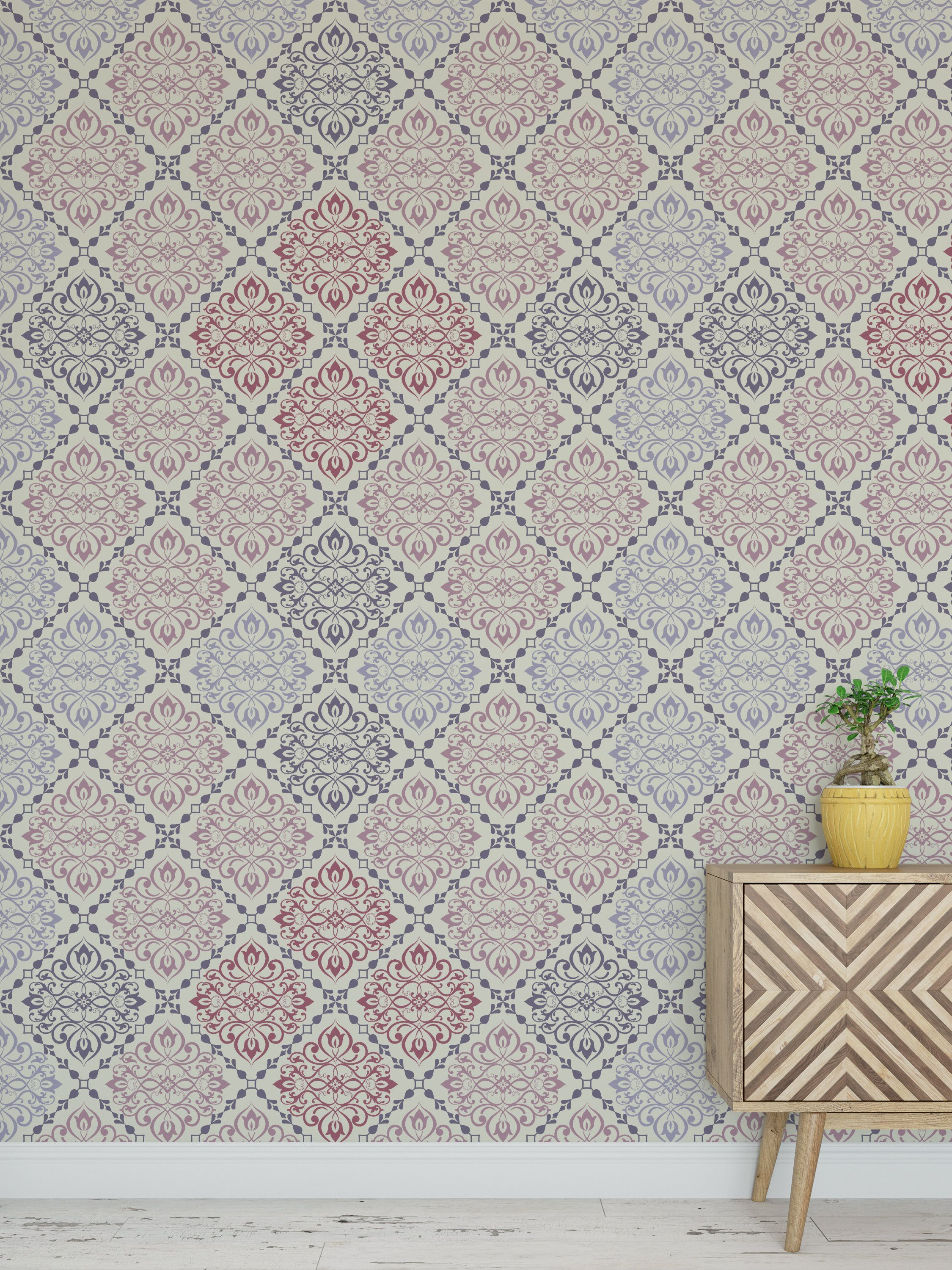 Removable Peel And Stick Wallpaper Blue Deco Geometric Etsy Blue Geometric Wallpaper Peel And Stick Wallpaper Geometric Wallpaper
