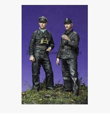 1:35 German Tank Female Crew World War 2 4 Figures Resin Model Kit 2 WW2