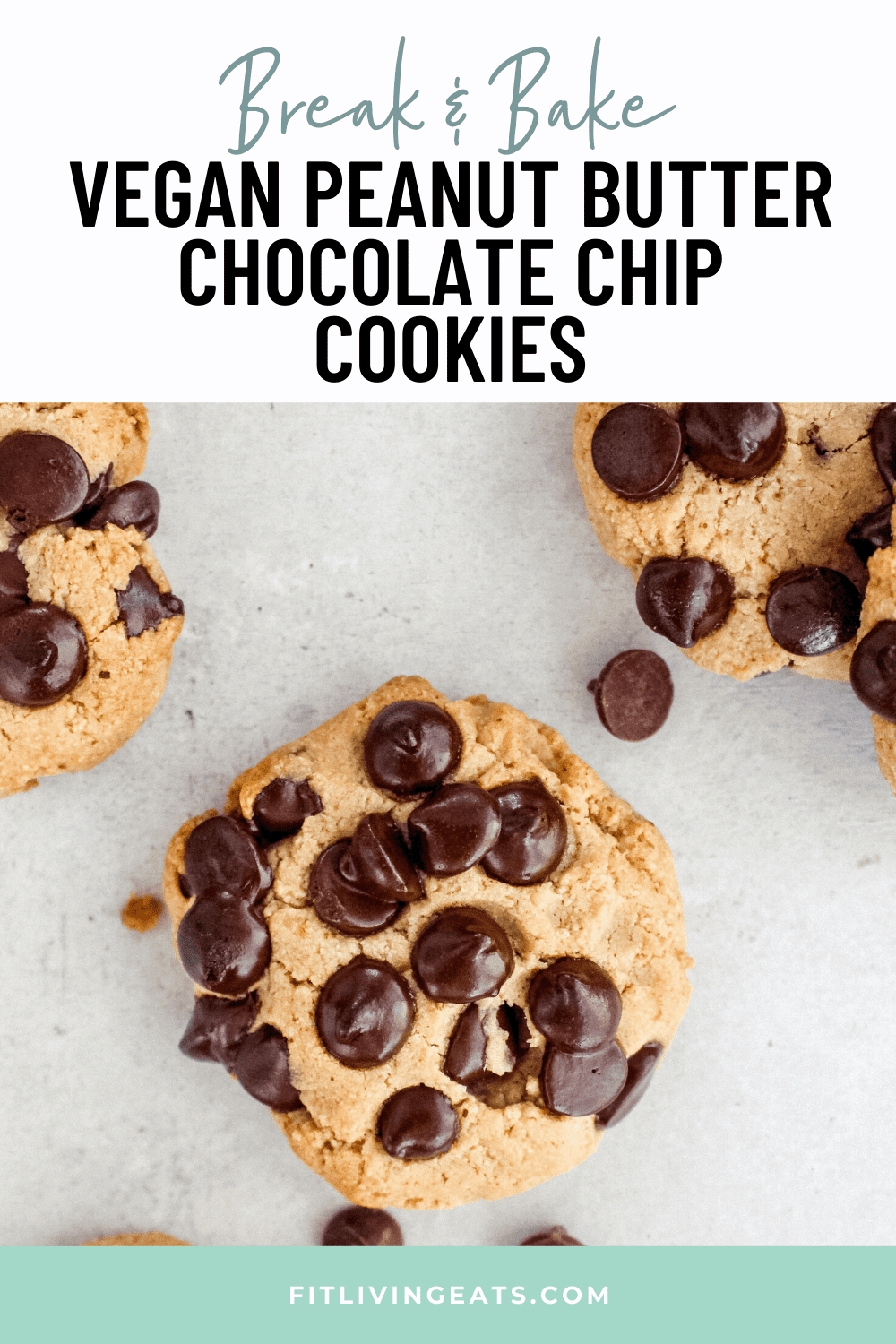 Break And Bake Cookies Peanut Butter Chocolate Chip Vegan Recipe Recipe In 2020 Peanut Butter Chocolate Chip Dairy Free Recipes Dessert Vegan Cookies Recipes