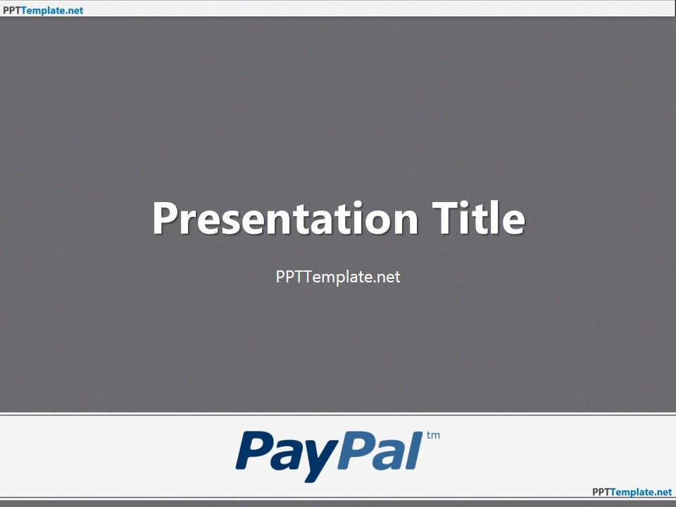 download free paypal with logo ppt template for microsoft, Modern powerpoint